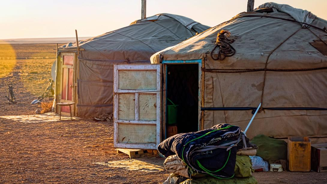 Travellers experience life with a nomad family as part of their Discovery Tour in Mongolia.